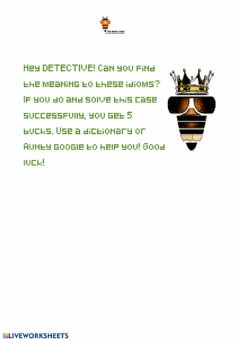 Interactive worksheet Idiom challenge p3-6