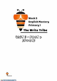 Ficha interactiva Week 5 English Mastery P1