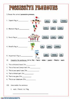 Interactive worksheet Whose flag is it?