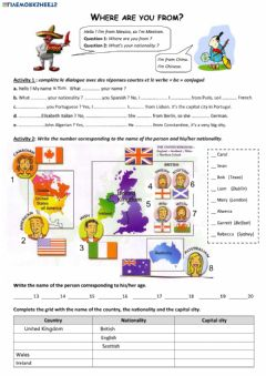 Where are you from? worksheet preview