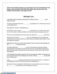 Interactive worksheet The Adventures of Tom Sawyer Chapter 7