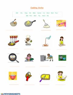 Interactive worksheet Cooking verbs