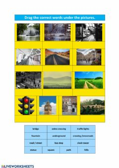 Interactive worksheet Public spaces and expressions