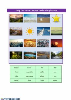Interactive worksheet Outdoor places