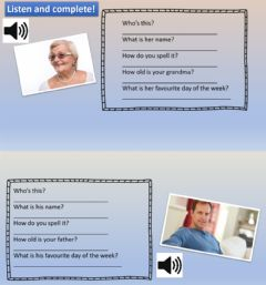 Interactive worksheet Family and age