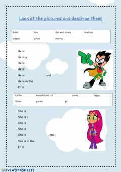 Interactive worksheet Describe them!