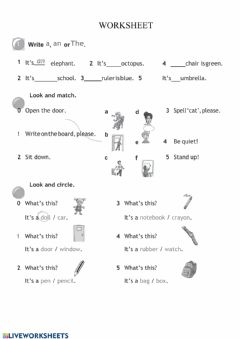 Interactive worksheet Grammar worksheet