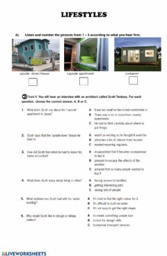 Interactive worksheet Lifestyle - City life