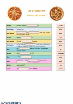Interactive worksheet Are you ready to order?