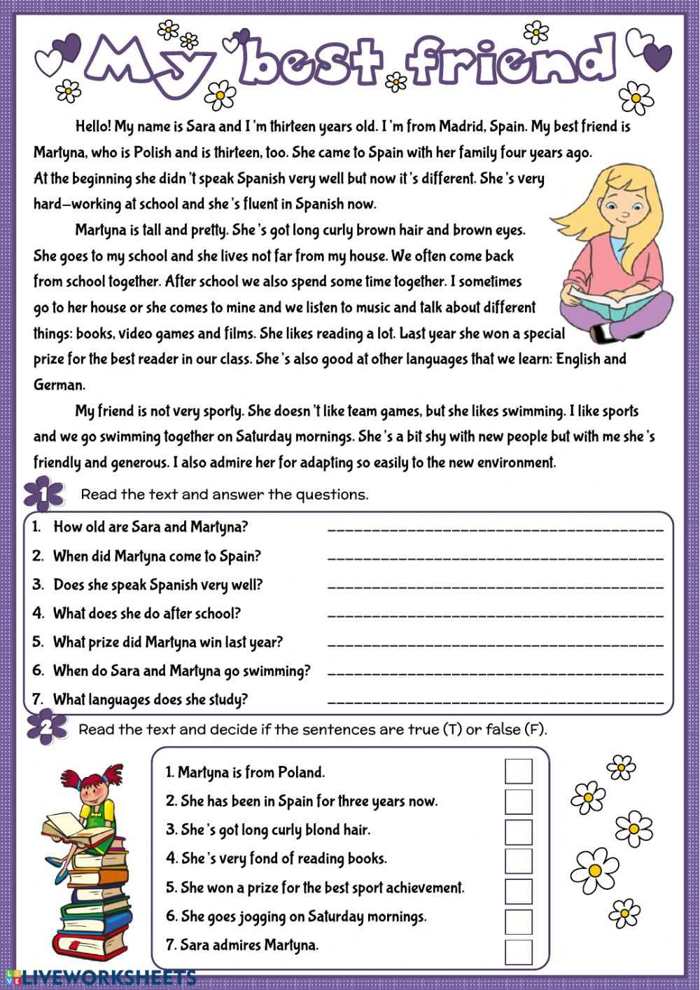 My best friend - Interactive worksheet