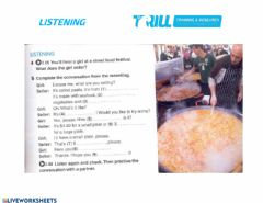 Interactive worksheet Street food