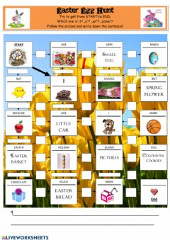 Interactive worksheet Easter Egg Hunt a,an,some