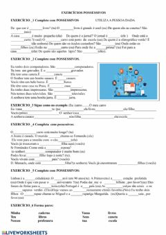 Interactive worksheet Gramática-possessivos