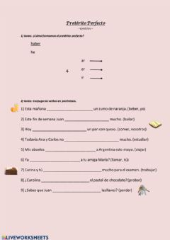 Interactive worksheet Pretérito Perfecto