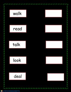Interactive worksheet Words typing