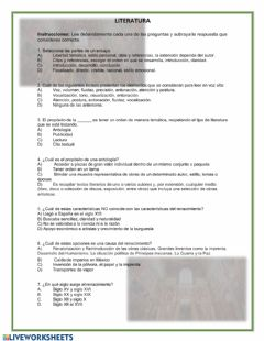 Interactive worksheet Renacimiento