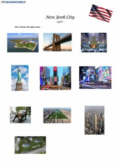 Interactive worksheet NYC sights