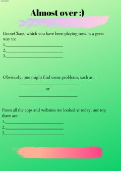Interactive worksheet Last task