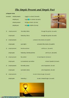 Interactive worksheet Simple Present and Simple Past