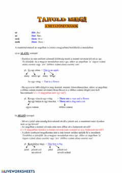 Interactive worksheet Demonstrative Pronouns