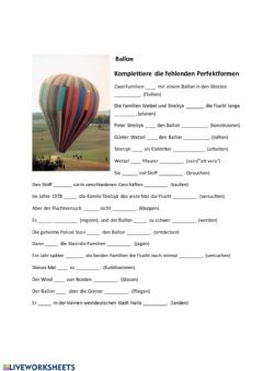 Interactive worksheet Ballon Perfekt