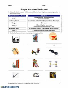 Ficha interactiva Simple Machines 1