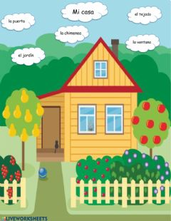 Interactive worksheet Mi casita