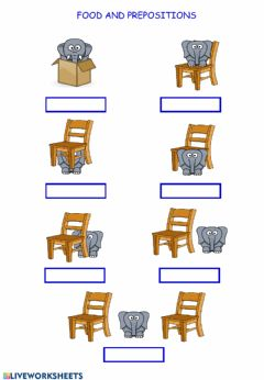 Interactive worksheet Prepositions and Food