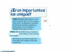 Interactive worksheet Los amigos