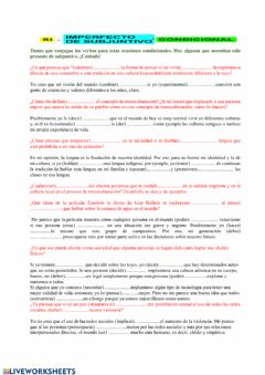 Interactive worksheet SI condicional Grado 12