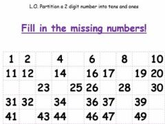 Interactive worksheet Missing-numbers-counting-50-counting