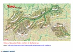 Interactive worksheet Tirol Gebirge