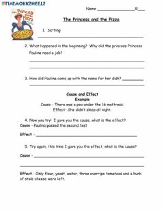 Interactive worksheet Princess and the Pizza