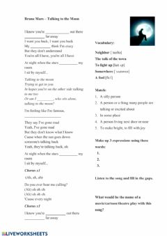 Interactive worksheet Talking to the moon