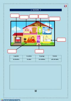 Interactive worksheet La maison 2