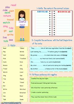 Ficha interactiva Simple Past Tense
