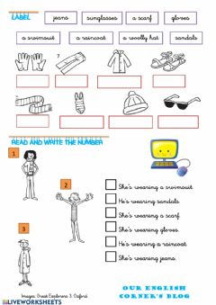 Interactive worksheet Clothes-5
