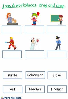 Interactive worksheet Jobs and worlkplaces 3