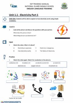 Interactive worksheet Unit 1.1