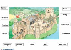 Interactive worksheet Castles and Fortresses 1