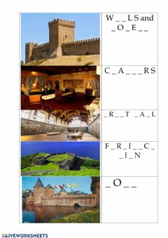 Interactive worksheet Castles and Fortresses 2