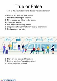 Interactive worksheet Train station