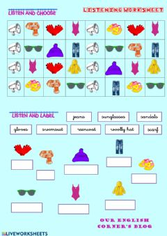 Ficha interactiva Clothes:vocabulary