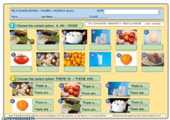 Interactive worksheet Food a - some - any
