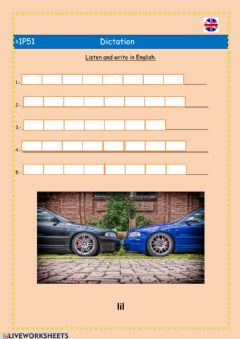 Interactive worksheet Dictation B