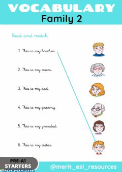 Interactive worksheet Family - Read and match