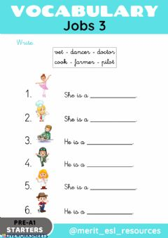 Interactive worksheet Jobs - Write