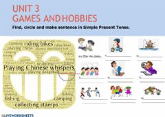 Interactive worksheet Games and hobbies
