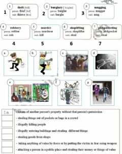 Interactive worksheet Crime people