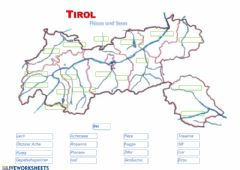 Interactive worksheet TIROL Seen und Gewässer - Check